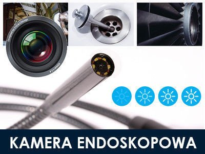endoskop kamera endoskopowa usb 15m p67 led zestaw. Black Bedroom Furniture Sets. Home Design Ideas