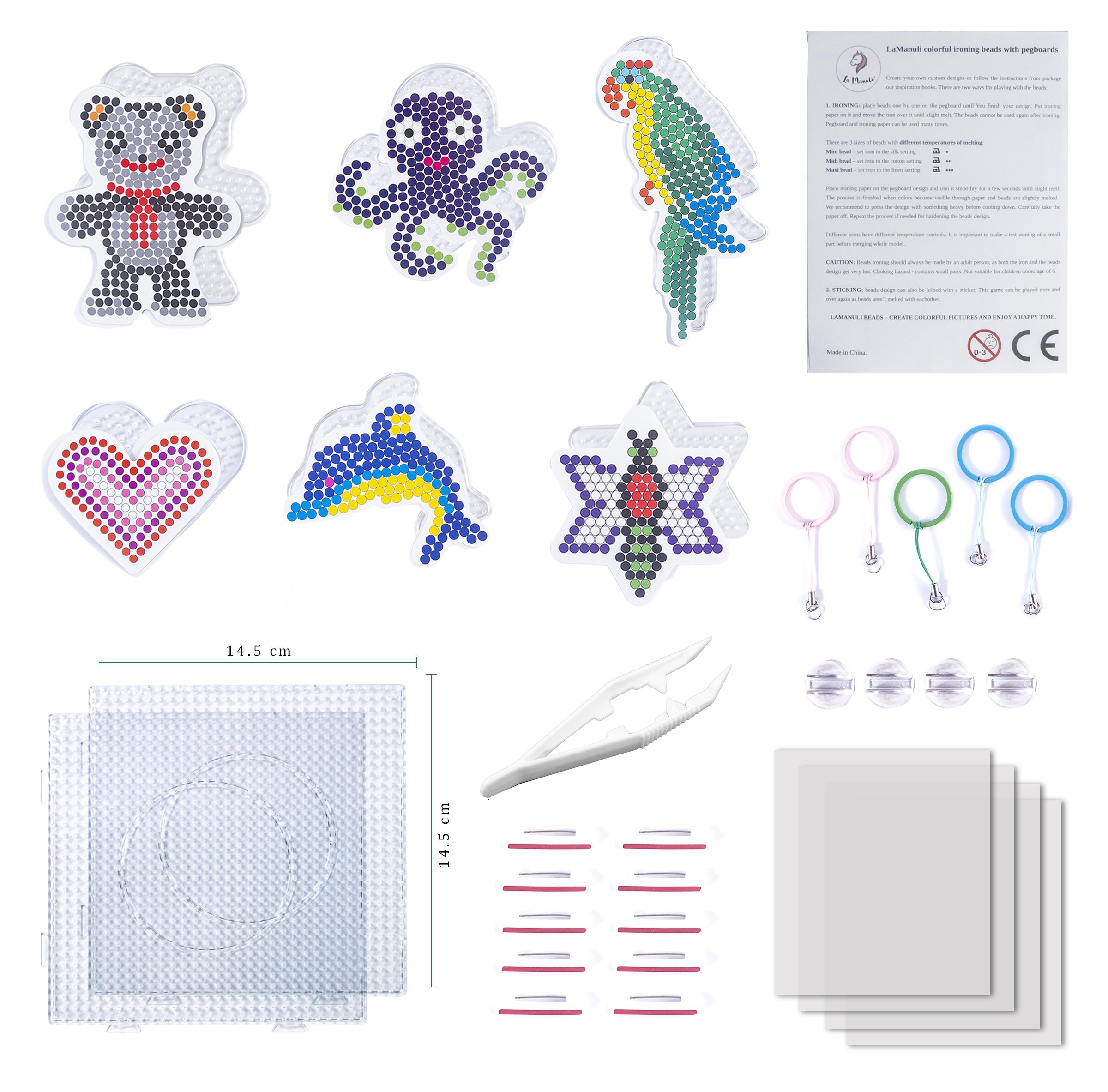 La Manuli 10000 Bügelperlen von Hama Beads kompatibel Glitzer 23 Farben 5mm OVP