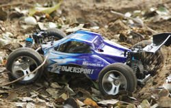 Remote-controlled toy car a959 blue