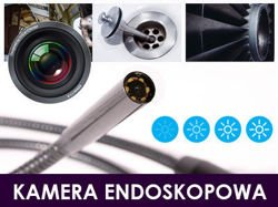ENDOSKOP KAMERA ENDOSKOPOWA USB 5,5mm 5m P67 LED