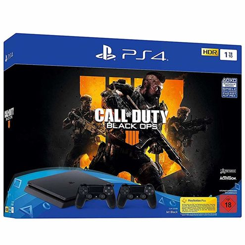 PlayStation 4 + Call of Duty Black Ops 4 + 2 pady